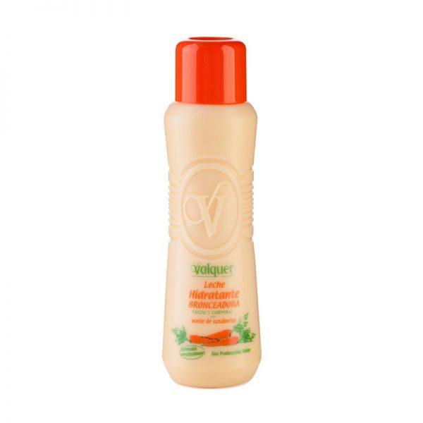 Leche hidratante bronceadora facial y corporal con aceite de zanahoria 500ml