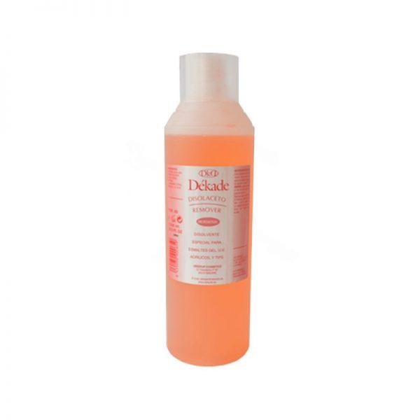 Dékade Remover. Disolvente especial para esmaltes gel, u.v, acrílicos y tips. 1000ml